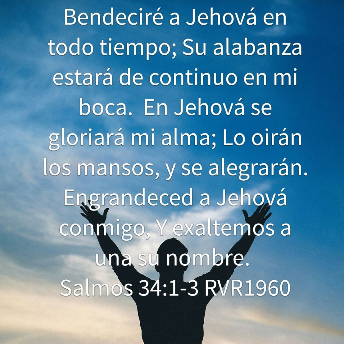 Expresiones de alabanza Salmos34:1-3